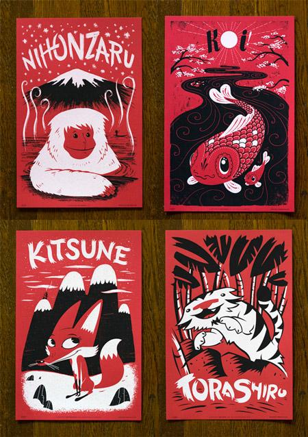 Fauna Friends Japanimals Posters