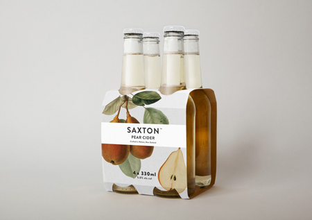 Saxton Cider label design