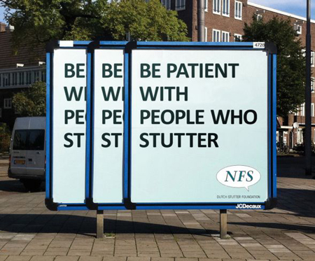 Dutch Stutter Foundation billboard