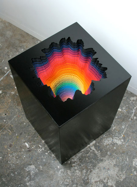 Psychedelic Three-Dimensional Paper Sculptures