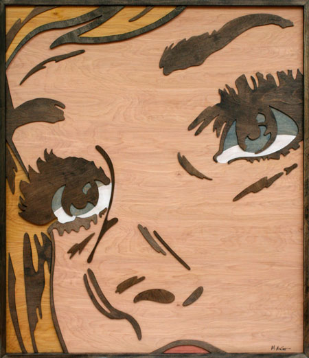 Layered Wood Pop Art