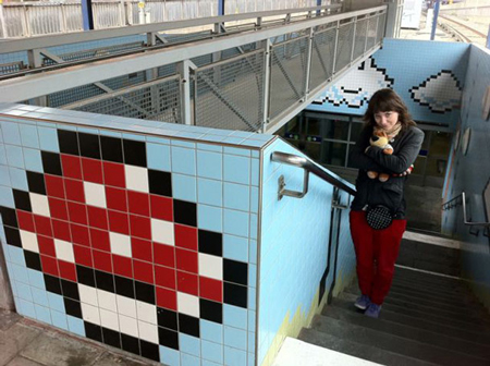 8-Bit Artwork In Swedish Subway System