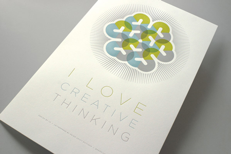 Love Creative Thinking Poster