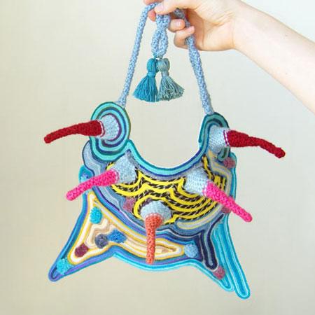 Textile-based jewellery by Mandy Besek