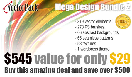 Mega Bundle from VectorPack.net available now for only $29 instead of $545