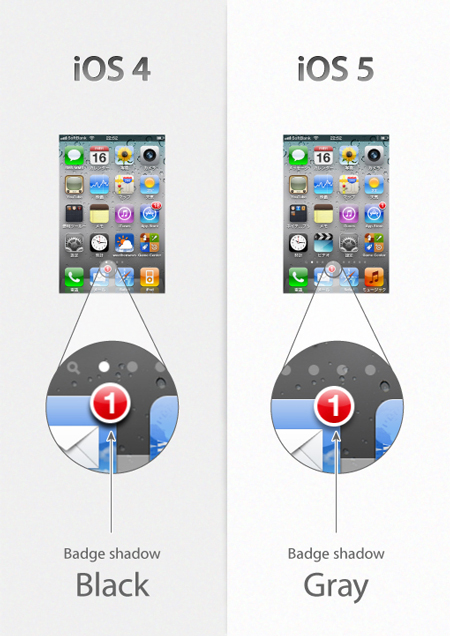 Details make a difference: changes in iOS5