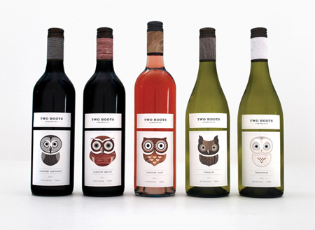 Two Hoots wine packaging