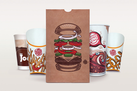 Burger King global packaging