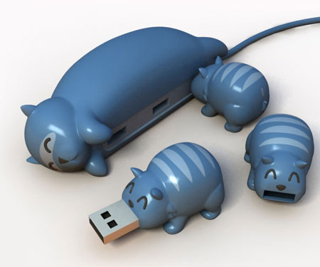 Animal buddy USB hubs