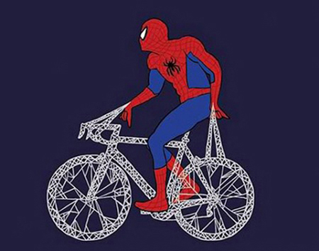 Superheroes on Bicycles