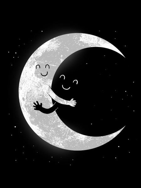 Moon hug print