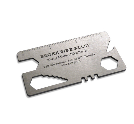 Bike repair business card