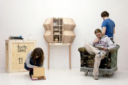 Accordion Cabinet by Elisa Strozyk and Sebastian Neeb