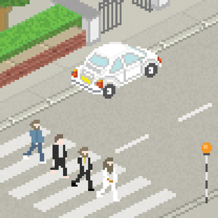 Beatles themed pixel art