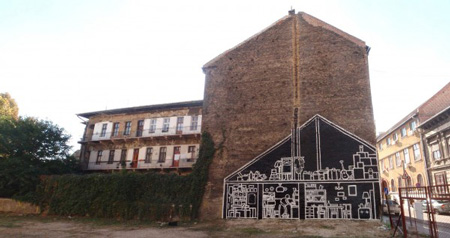 X-Ray Murals Reveal the Architectural Footprint of Razed Buildings
