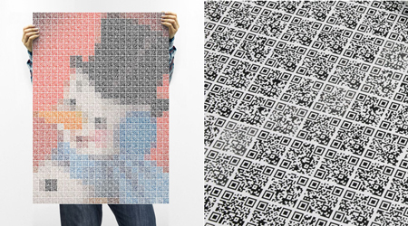 Wrapping paper made of QR codes