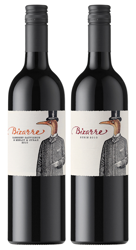 Bizarre wine packaging