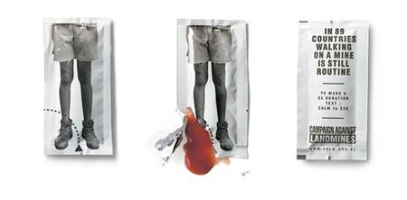 Landmine ketchup advertising
