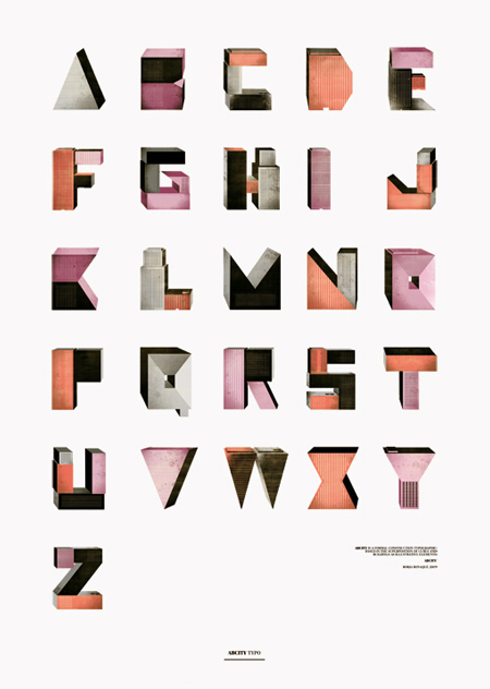 Typographic illustrations by Borja Bonaque
