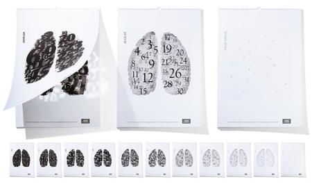 The non-smokers art calendar
