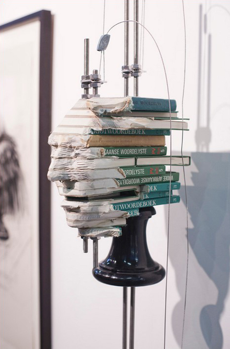 Book sculptures by Wim Botha