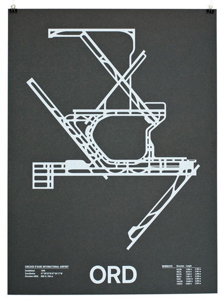 Airport Runway Screenprints by Nomo