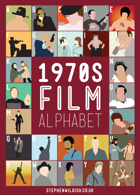 1970s illustrated film alphabet