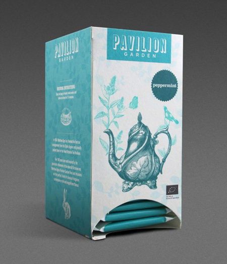 Pavilion garden tea packaging