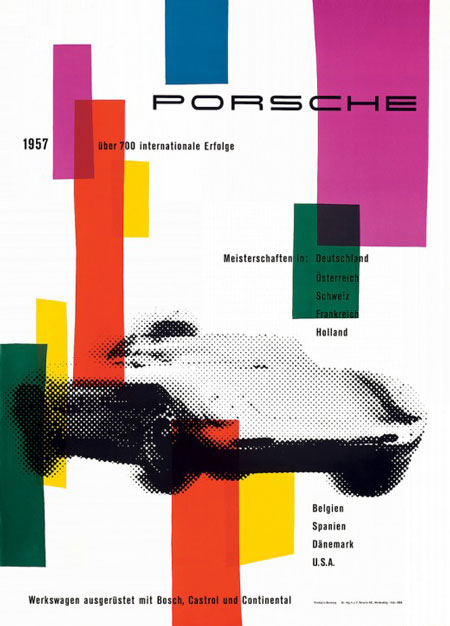 Vintage Porsche posters from the 50s