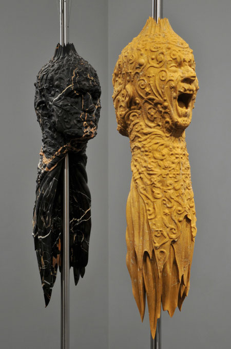 Dual-dual portrait by Barry x Ball and Matthew Barney