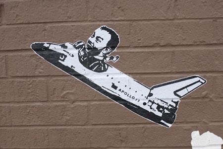 Street art by Hanksy