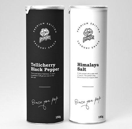 Concept packaging: Deluxe Pringles by Niklas Hessman