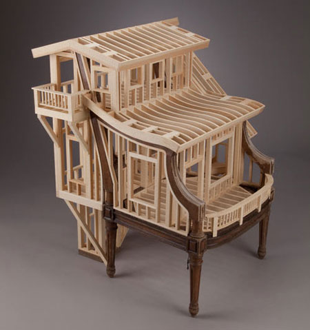 Brand new Small house frames out of wood by Ted Lott EM86