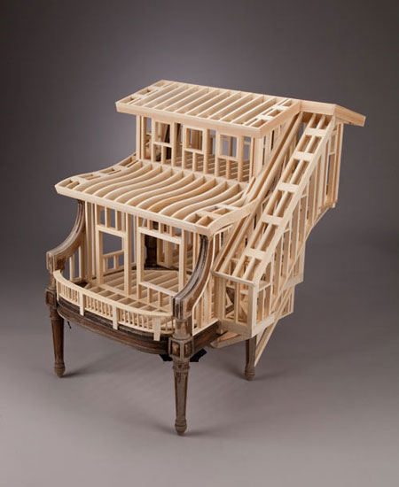 Small House Frames Out Of Wood By Ted Lott