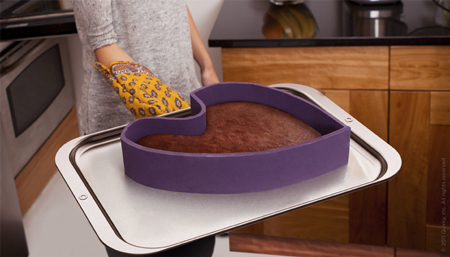 Ribbon cooking pan