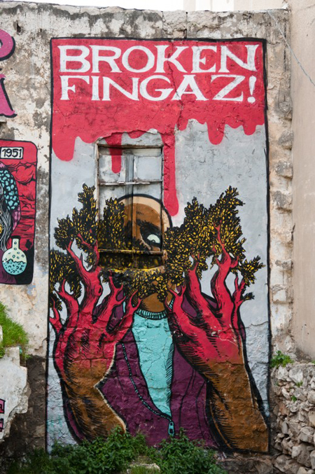 Street art by Broken Fingaz