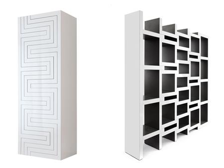 Expanding zigzag bookcase