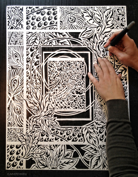 Paper cut art by Elaine Penwell