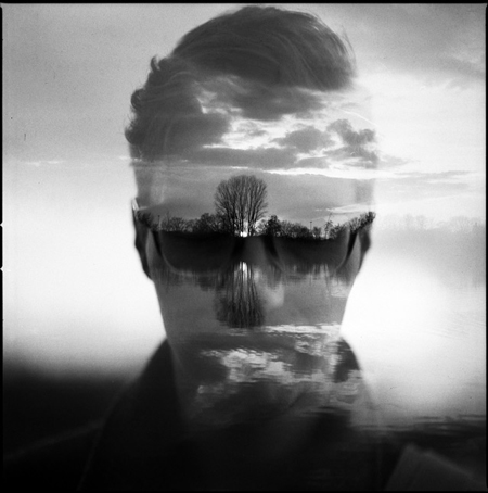 Double exposure photographs by Florian Imgrund