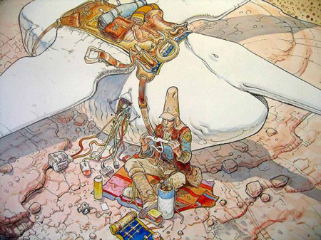 Drawings by Jean Giraud