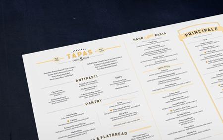 Romano's Macaroni Grill menu design