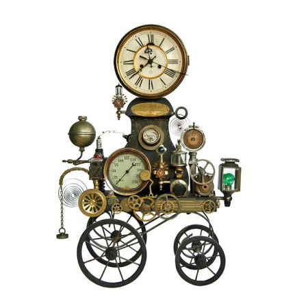 the whimsical clocks of roger wood