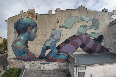 Giant street art by Aryz