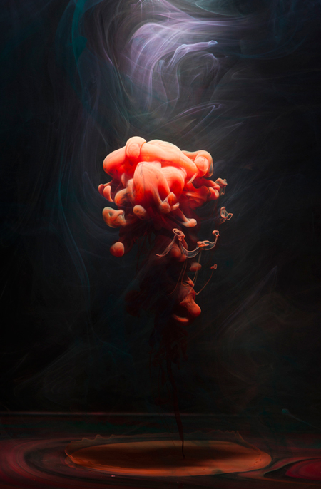 Underwater fluid photography