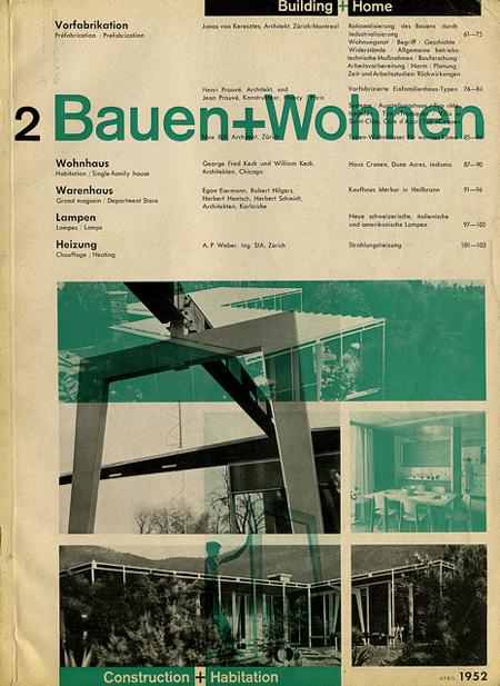 Bauen+Wohnen magazine covers