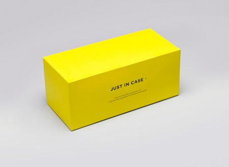 Just in Case: end of the world survival kit branding