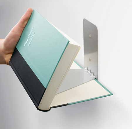 Invisible Bookshelf on Designer Daily.