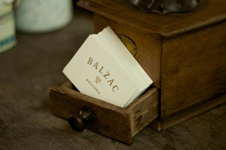 Branding for Balzac Brasserie