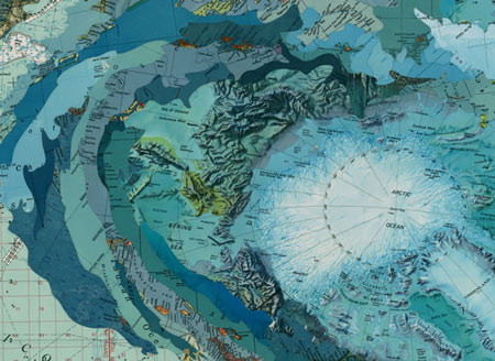 Map collages by Matthew Cusick