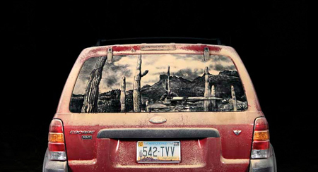 Dirty car artwork by Scott Wade